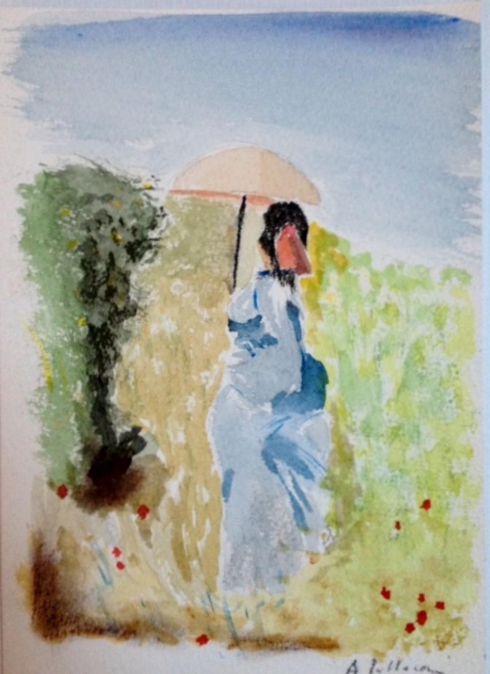 Dama con ombrellino
